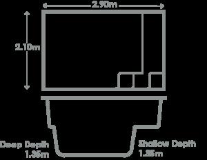 Fiji-Plunge-Pool-Specs-2.90m-web-317x262px-2-1